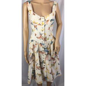 Nanette Lepore Cotton Butterfly 🦋 Spring Dress